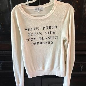 Wildfox long sleeve top size xs